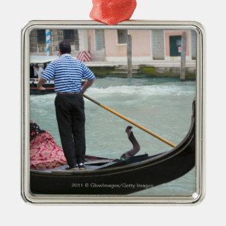 Gondolas in Venice canal Ornament
