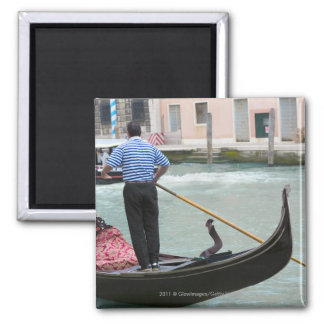 Gondolas in Venice canal Magnets
