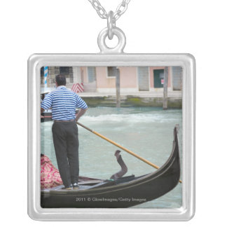 Gondolas in Venice canal Personalized Necklace