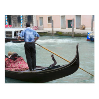 Gondolas in Venice canal Post Card