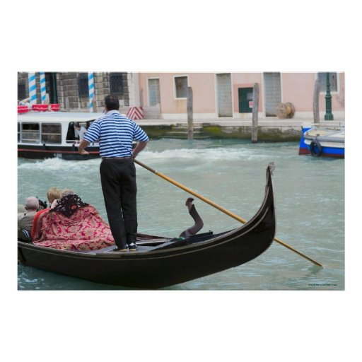 Gondolas in Venice canal Posters