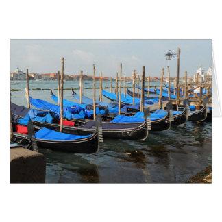 Gondolas in Venice Greeting Cards