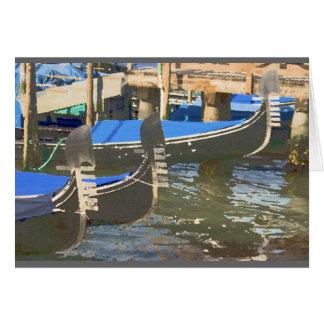 Gondolas in Venice, Italy Card