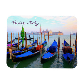 Gondolas in Venice Rectangular Photo Magnet