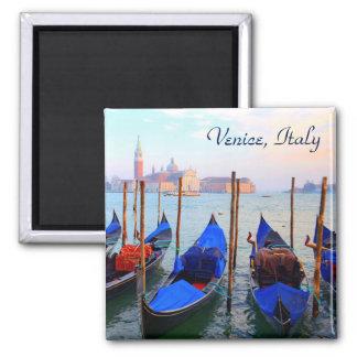 Gondolas On The Giudecca Canal - Venice, Italy Magnet