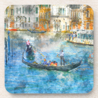 Gondolas on the Grand Canal in Venice Italy Coaster