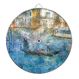 Gondolas on the Grand Canal in Venice Italy Dartboard