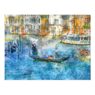 Gondolas on the Grand Canal in Venice Italy Postcard