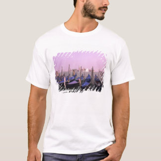 Gondolas ready for tourists in Venice Italy T-Shirt