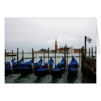Gondolas with a view greeting card