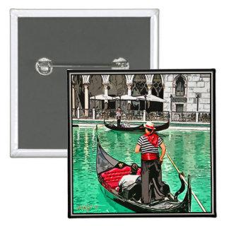 Gondolier 15 Cm Square Badge