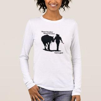 gone barrel racing, cowgirl long sleeve T-Shirt
