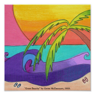 Gone Beachy Poster Print