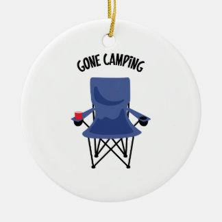 Gone Camping Ceramic Ornament