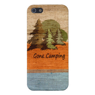 Gone Camping Wood Look Nature Lovers iPhone 5/5S Cover