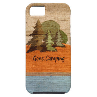 Gone Camping Wood Look Nature Lovers iPhone 5 Cover