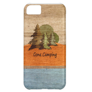 Gone Camping Wood Look Nature Lovers iPhone 5C Case