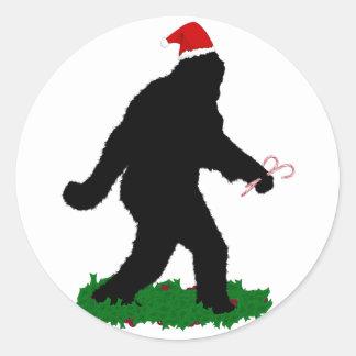 Gone Christmas , Gone Squatchin' Classic Round Sticker