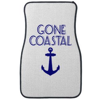 Gone Coastal Navy Blue Anchor Car Mat
