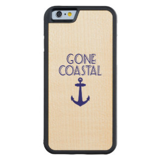 Gone Coastal Navy Blue Anchor Maple iPhone 6 Bumper Case
