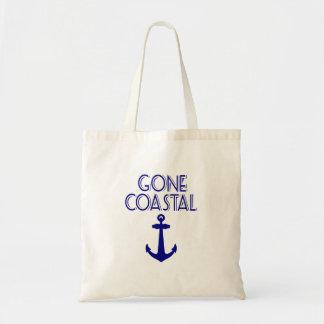 Gone Coastal Navy Blue Anchor Tote Bag