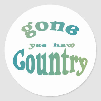 gone country yeehaw round stickers