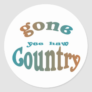 gone country yeehaw stickers