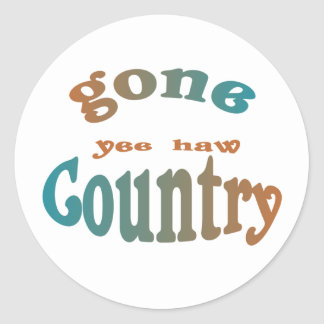 gone country yeehaw sticker