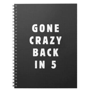 Gone crazy, back in 5 notebook