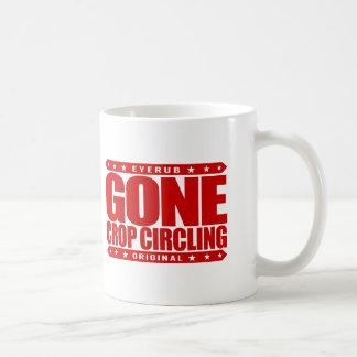 GONE CROP CIRCLING - Are UFO Crop Circles A Hoax? Basic White Mug
