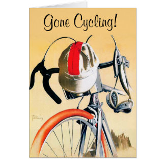Gone Cycling - Template Greeting Card