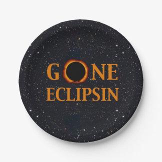 GONE ECLIPSIN Solar Eclipse Paper Plate