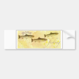 GONE FISHER TROUT BUMPER STICKER