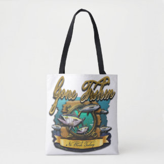 Gone Fishin Port Hole Tote Bag