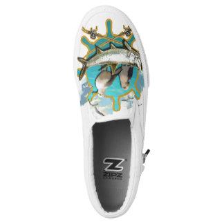 Gone Fishin Seagulls Slip-On Shoes