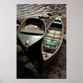 Gone Fishing Boats Photo Art Poster Print