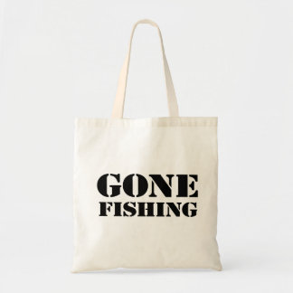 Gone Fishing Budget Tote Bag