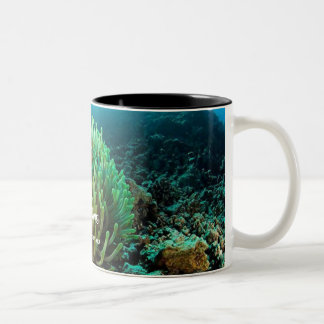 Gone Fishing - clown Two-Tone Coffee Mug