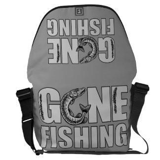 GONE FISHING custom messenger bag