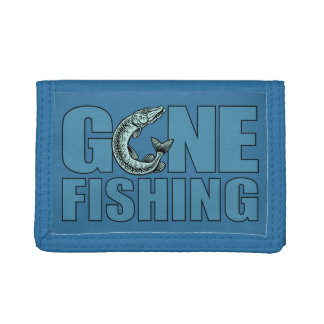 GONE FISHING custom wallets