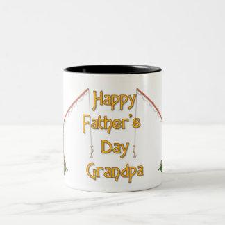Gone Fishing Father's Day - Grandpa Two-Tone Coffee Mug