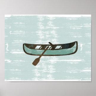 Gone  Fishing Fisherman  Mint Boat Poster