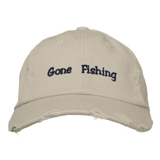 Gone Fishing hat Embroidered Hat