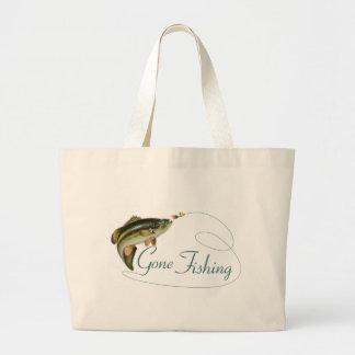 Gone Fishing Large Tote Bag