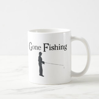 Gone Fishing, Man fishing Coffee Mug
