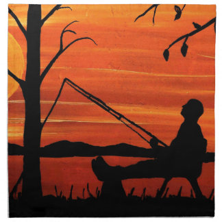 Gone Fishing Napkin