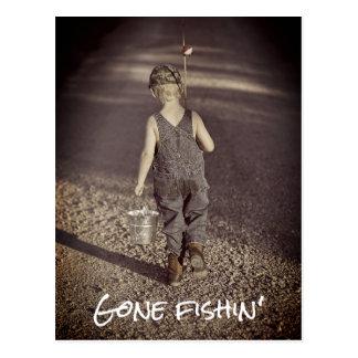 Gone Fishing Retirement Announcement Postcard