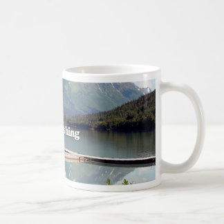 Gone Fishing: Trail Lake, Alaska Coffee Mug