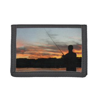 Gone fishing tri-fold wallets