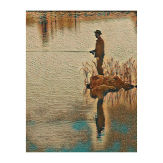 Gone Fishing Wood Wall Art